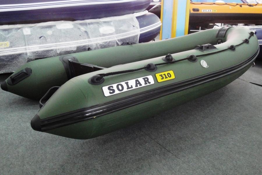 лодки пвх солар 380 с надувным дном видео цена
